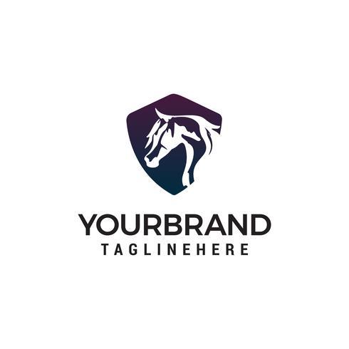 vetor de modelo de conceito de design de logotipo de cabeça de cavalo
