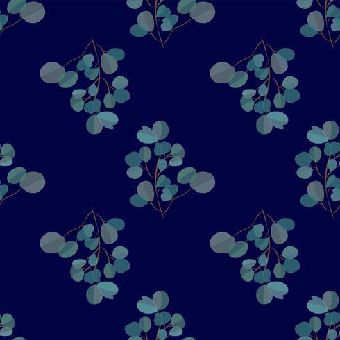 Fundo moderno brilhante com folhas da selva. Padrão exótico com folhas de palmeira. Ilustração vetorial vetor