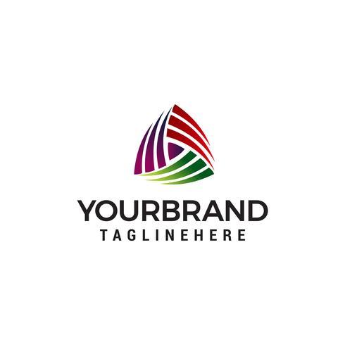 vetor de modelo de conceito de design de logotipo de mídia triangel