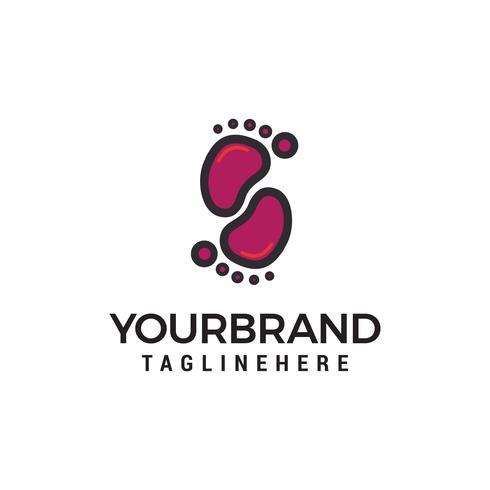Vetor de modelo de conceito de design de logotipo de passos