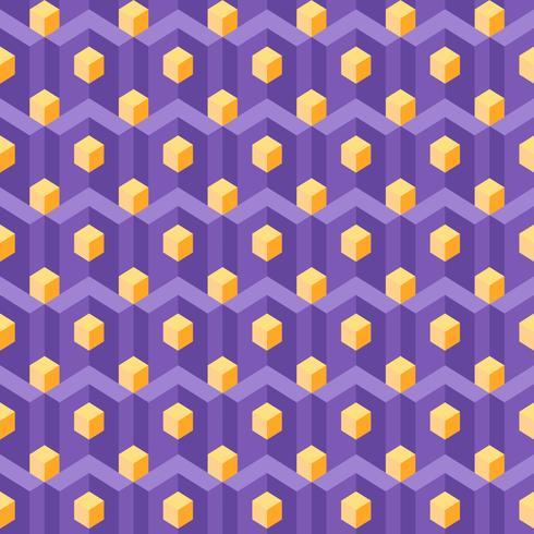 Magnetize o padrão de geometria isométrica vetor