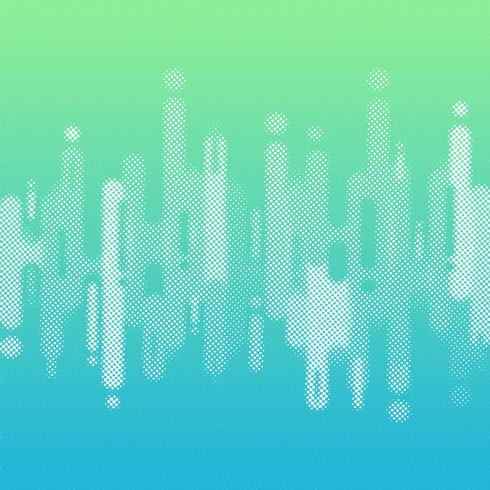 A cor azul e verde abstrata do inclinação arredondou linhas fundo das formas da transição com espaço da cópia. Estilo de meio-tom do elemento vetor