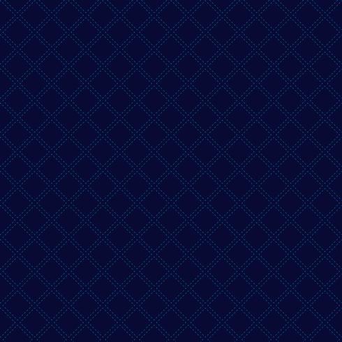 Teste padrão geométrico clássico abstrato dos quadrados na obscuridade - estilo azul do luxo do fundo. Linhas tracejadas repetindo com textura quadrada vetor