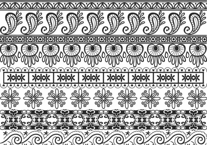 Fronteira Ornamental Vector Pack