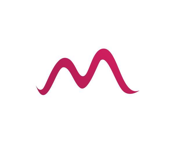 M Letter Logo Business Template Vector ícone,