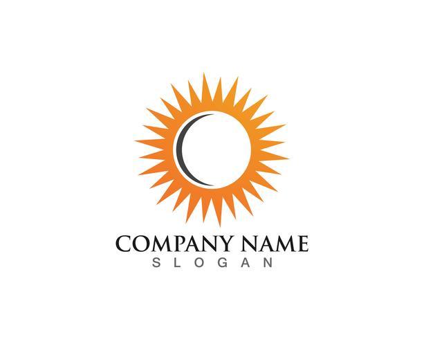 Ilustração vetorial Ícone Logo Template Sun over horizon vetor