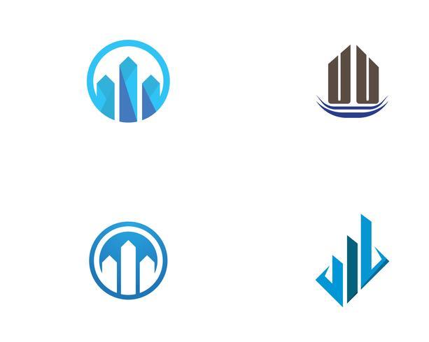 Design de logotipo de propriedade e construção vetor