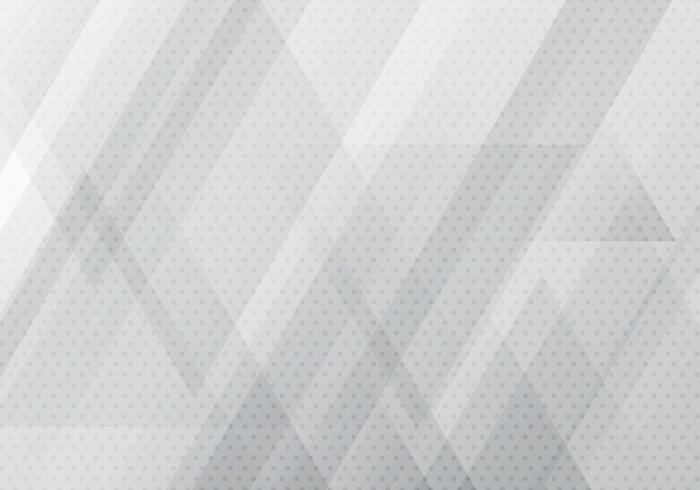 A bandeira geométrica branca e cinzenta abstrata com formas dos triângulos overlay a textura do fundo e da reticulação. vetor