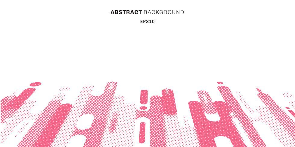 As linhas arredondadas cor-de-rosa abstratas das formas do estilo abstraem o fundo da perspectiva da transição com espaço da cópia. Padrão de pontos moderno. vetor