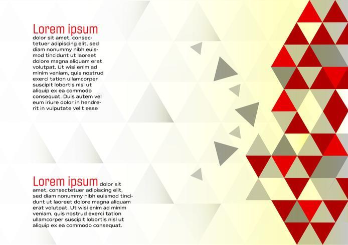 Vetor abstrato geométrico vermelho e branco fundo moderno design eps10 com espaço de cópia