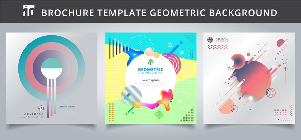 Definir o modelo de design de capas geométricas. vetor