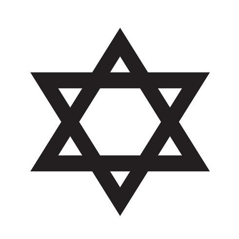 Ilustração em vetor ícone estrela David