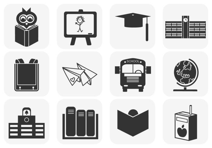 Pacote de ícones de vetor de escola