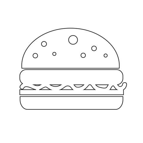 Ilustração em vetor ícone hambúrguer