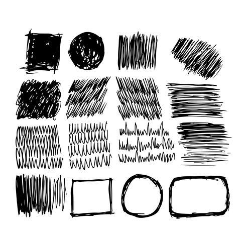 Linha de esboço de tinta desenhada de mão vetor