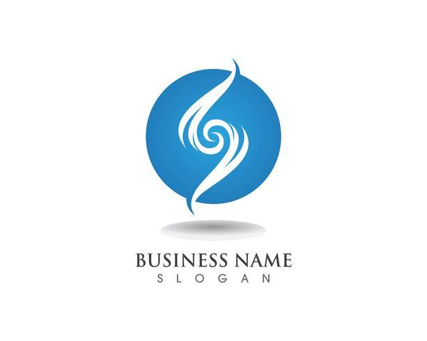 S logotipo e ícone de vetor de modelo de símbolos