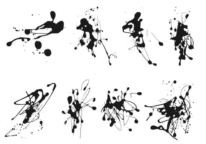 Pacote de vetores de splatter de tinta