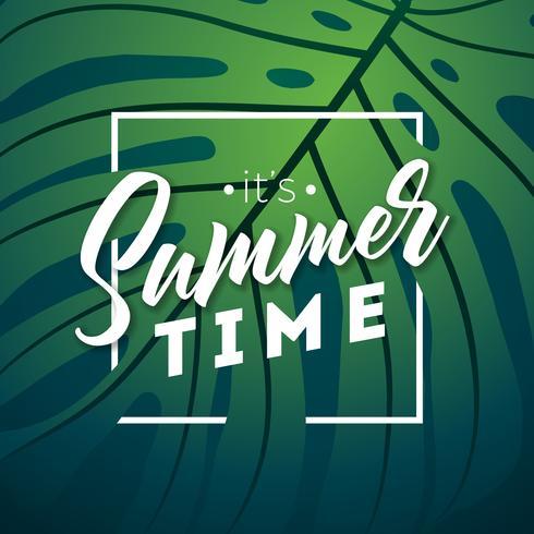 É a tipografia do horário de verão vetor