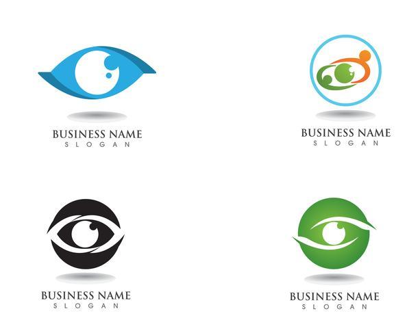 Logotipo e símbolo do cuidado de olho vetor