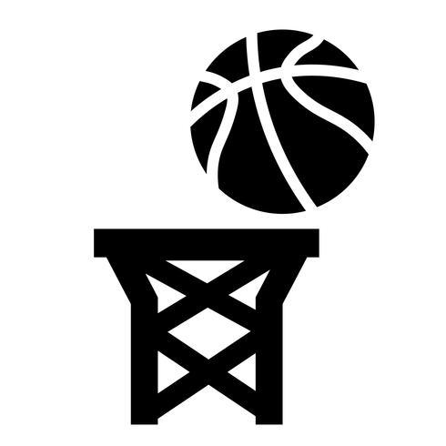 Vetor de ícone de pontos de basquete
