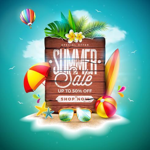 Projeto de venda de verão vetor