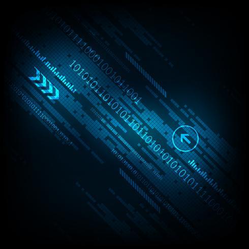 Projeto digital da tecnologia abstrata do fundo do vetor. vetor