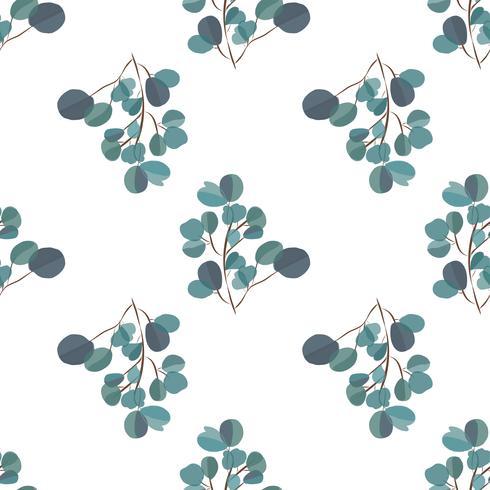 Fundo moderno de Brightl com folhas da selva. Padrão exótico com folhas de palmeira. Ilustração vetorial vetor