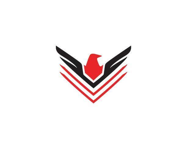 Modelo de vetor logotipo pássaro e asa