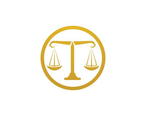 Ícones de modelo de logotipo e símbolos de advogado de justiça vetor