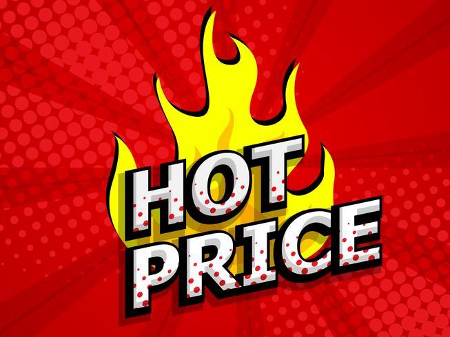 preço quente para a etiqueta do disconto da venda vetor