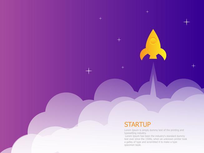 lançador de foguetes de página de destino de inicialização vetor