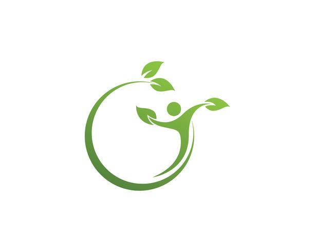 pessoas folha verde natureza saúde logotipo e símbolos .. vetor