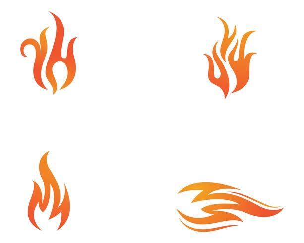 Modelo de logotipo de ícone de vetor de fogo