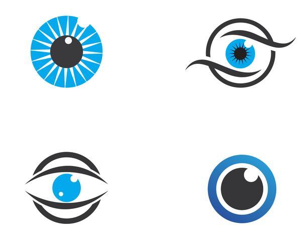 Modelo de design de logotipo de vetor de cuidado do olho