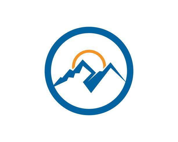 Montanha e água Logo Business Template Vector