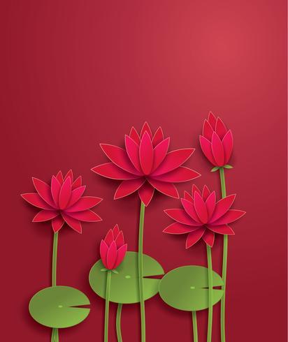 flor de lótus de vetor