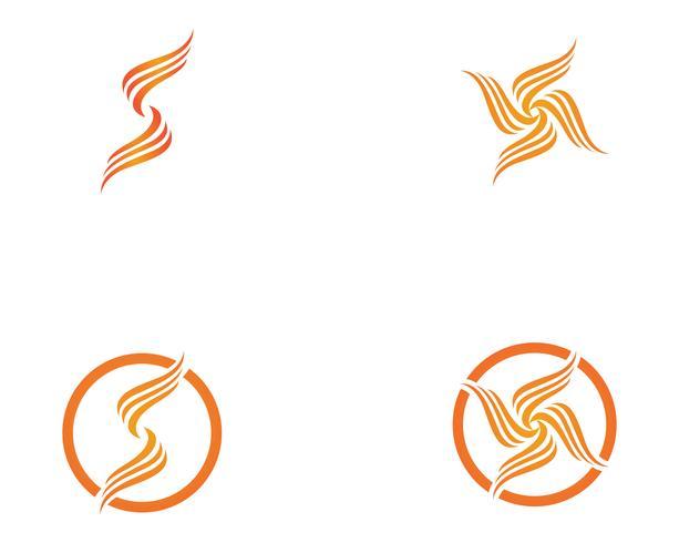 Modelo de ícones do fogo chama natureza logotipo e símbolos vetor