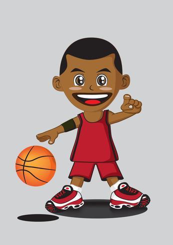 desenho de jogador de basquete vetor