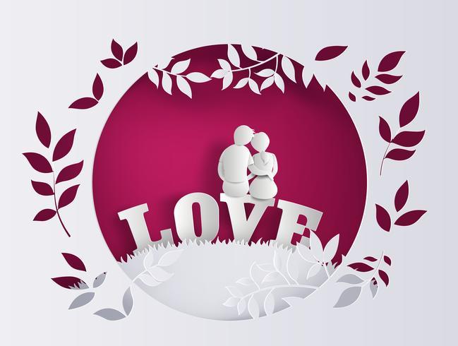 Ilustração de amor e dia dos namorados vetor