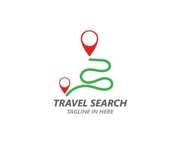 Modelo de vetor de logotipo de ponto de localização