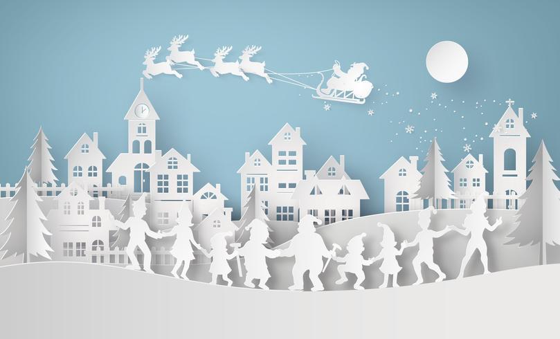 Ilustração de feliz Natal e feliz ano novo vetor
