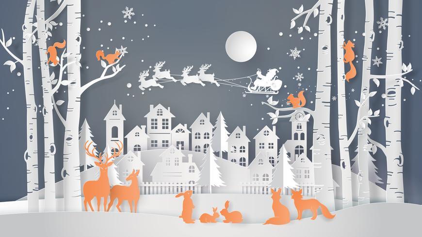 temporada de inverno e feliz Natal vetor