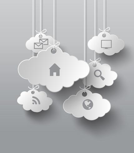 Gráficos vetoriais com nuvem de ícones de aplicativos vetor