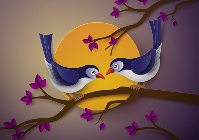 pássaro apaixonado vetor