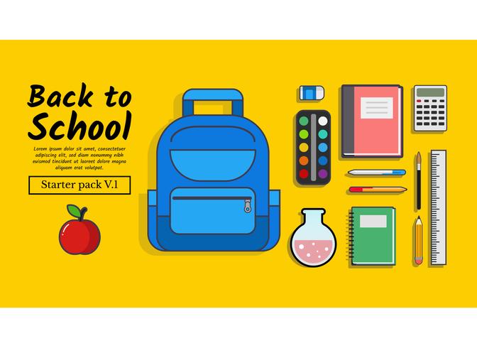 De volta à escola Starter Pack Vol. 1 vetor