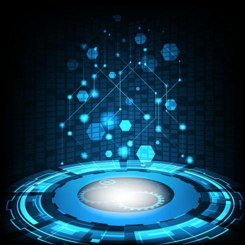 Conceito da tecnologia digital do vetor, fundo abstrato. vetor