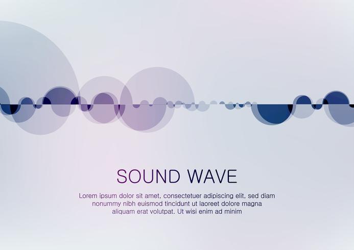 Equalizador digital abstrato, elemento de padrão de onda sonora de design criativo. vetor