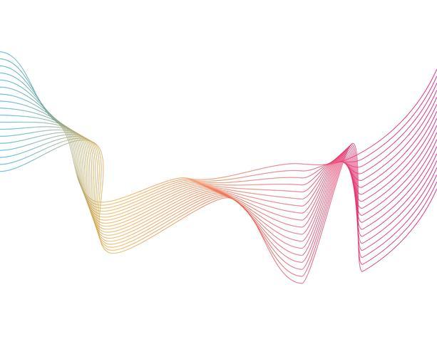 Cartaz de fluxo colorido moderno. Forma líquida da onda no fundo azul da cor. Design de arte para o seu projeto de design. Ilustração vetorial vetor