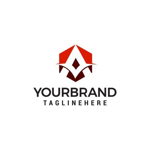 letra um vetor de modelo de conceito de design de logotipo