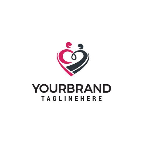 vetor de modelo de conceito de design de logotipo de cuidados familiares